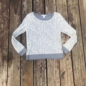 Petite M Liz Claiborne sweater with lace